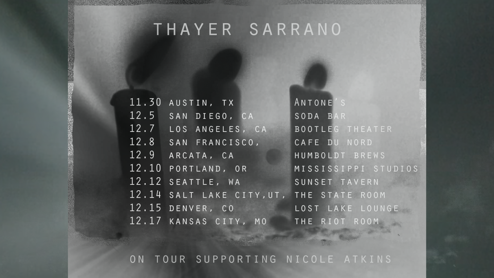 Thayer Sarrano - The Tour of the West (2017)