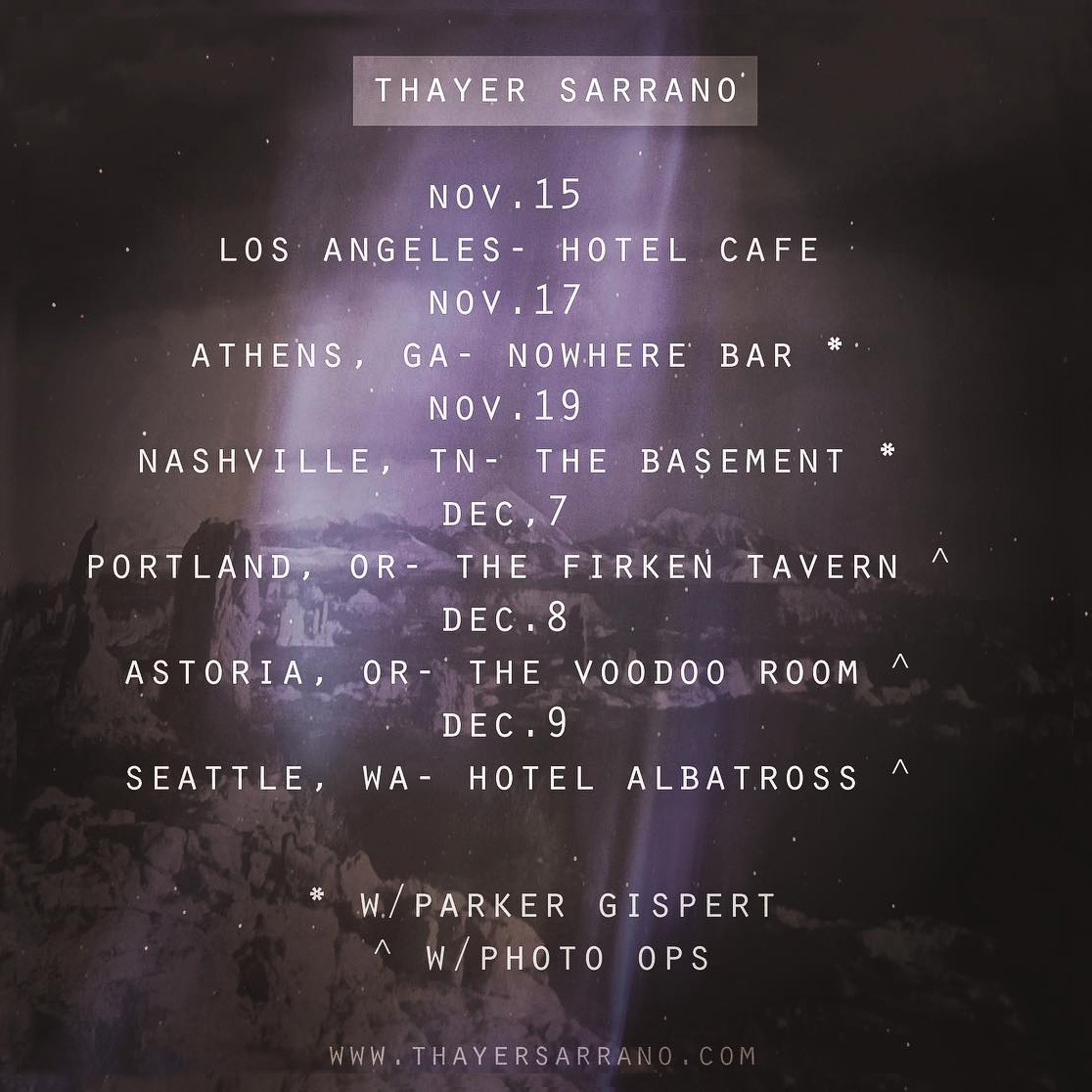 Thayer Sarrano - The Winter Tour (2018)