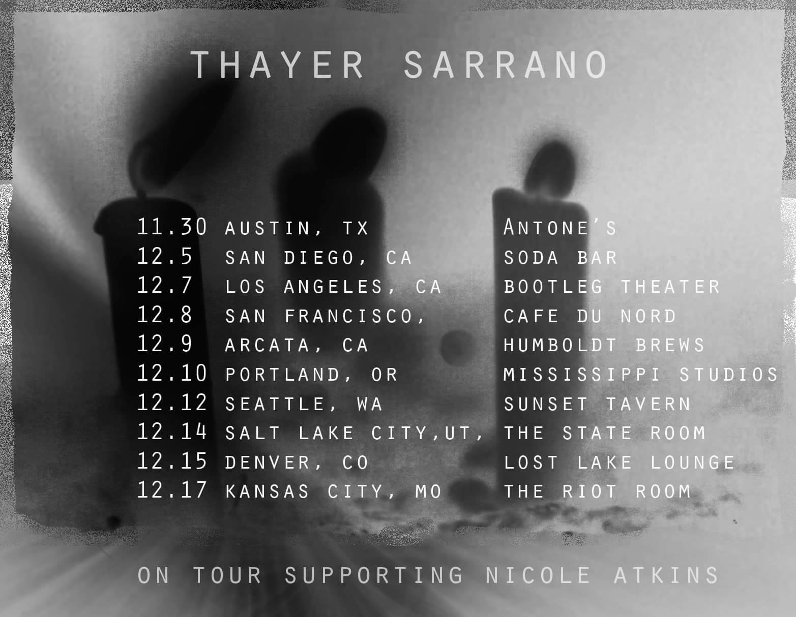 Thayer Sarrano - Tour of The West (2017)